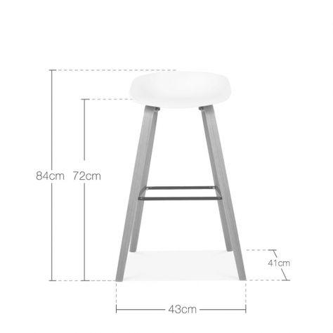 9 High Inspired Living 9 Reg Width folding-stools COOL GREY