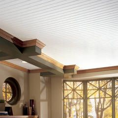 Home Stunningly Beautiful It Is Super Easy To Keep Clean And Very Forgiving In Installation I Have Done The Whole J In 2020 Armstrong Ceiling Plank Ceiling Beadboard
