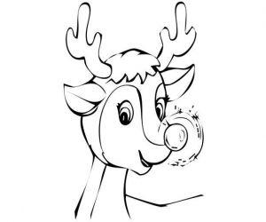 Rentier Rudolf Malvorlage Ausmalbilder Ausmalbilder Tiere Weihnachtsmalvorlagen