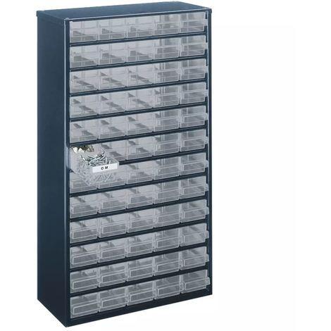 Raaco Armoire Metal Cab 1260 00 Blue 137386 Casier Rangement Tiroirs En Plastique Tiroir