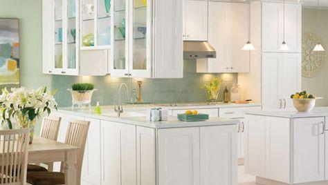 Blanco Shaker Gabinetes de cocina | Cocina Editar | kitchen ...