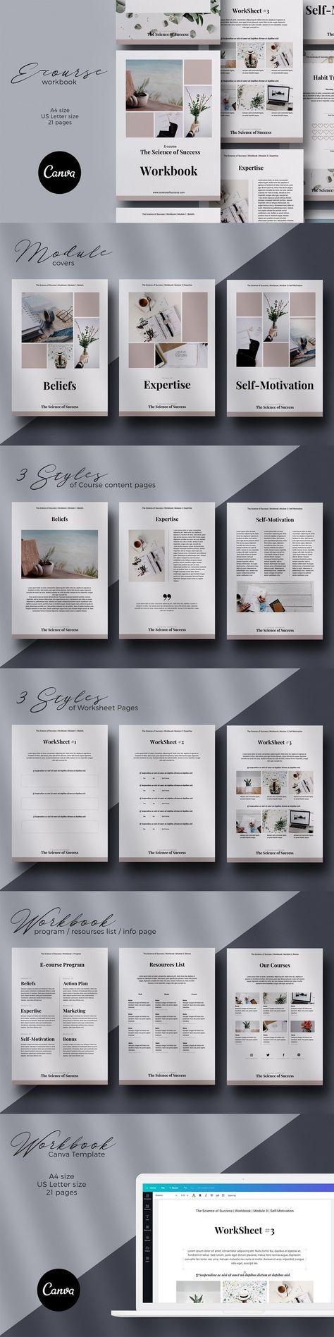 Canva E-course Workbook Template
