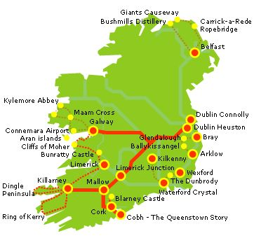 Irland Cliffs Of Moher Karte.Pinterest