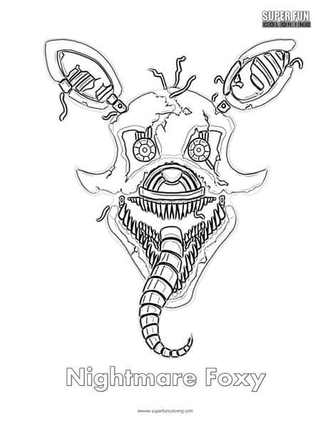Nightmare Foxy Coloring Sheet Super Fun Coloring In 2020 Fnaf Coloring Pages Coloring Pages Cute Coloring Pages