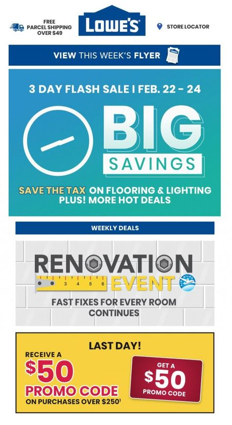 Lowe S Breaking News 3 Day Flash Sale Starts Now February 22 2019 Flash Sale Sale Lowes Coupon