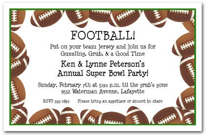 photograph relating to Super Bowl Party Invitations Free Printable identify Soccer Border Tremendous Bowl Invites I Soccer