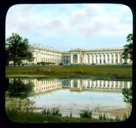 Alexander Palace in home of Nicholas II and his family. After the February Revolution they were placed under house arrest in this palace.