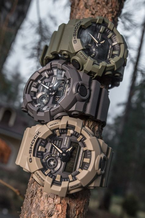 G-Shock GA-700UC Ultimate Lookbook Cool Watches For Women, Vintage Watches For Men, Burberry Men, Gucci Men, Hermes Men, Fossil Watches, Men's Watches, Luxury Watches, G Shock Watches Mens