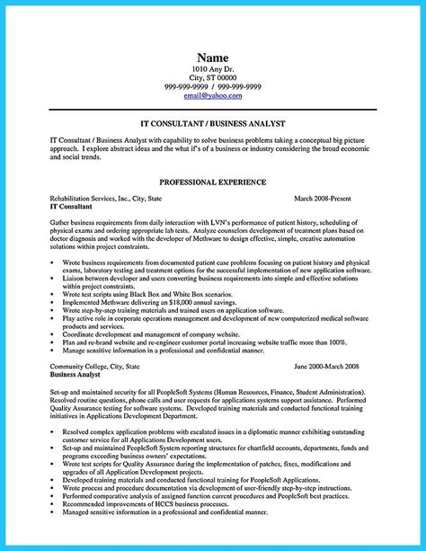 In Chiropractic Assistant Resume, Chiropractic Assistant - senior business analyst resume