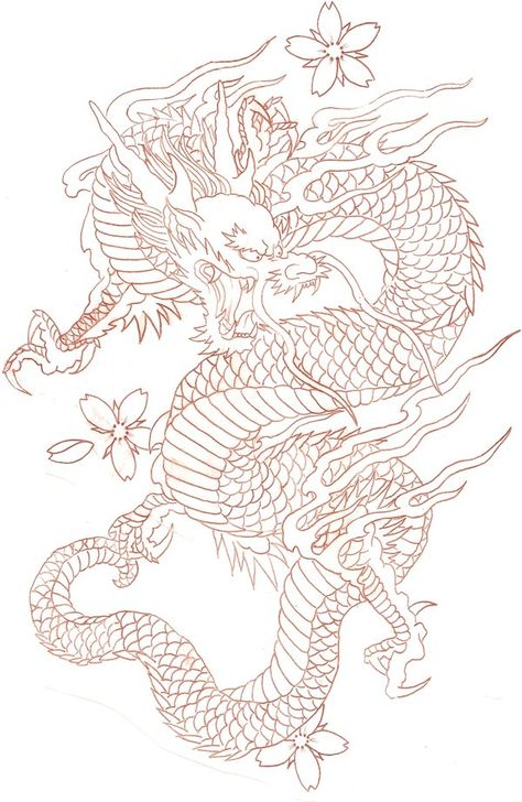 diseños de tatuajes 2019 Ladys and Genltemen, I give you a Chinese Dragon. - diseños de tatuajes 2019 Ladys and Genltemen, I give you a Chinese Dragon. I also have the coloure - Japanese Dragon Tattoos, Japanese Tattoo Art, Chinese Dragon Drawing, Asian Dragon Tattoo, Dragon Tattoo Leg, Dragon Tattoo Drawing, Chinese Tattoos, Arabic Tattoos, Dragon Tattoo Stencil