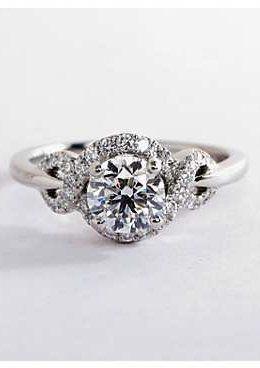 09a0e4ecc9118 Monique Lhuillier Timeless Twist Diamond Halo Engagement Ring by ...