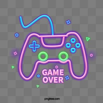 Abstract Neon Effect Video Game Machine Icon Neon Recreational