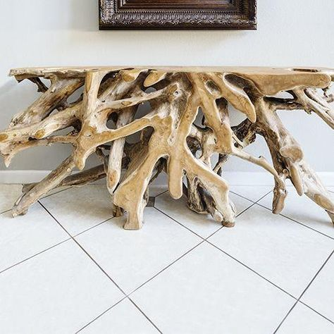 Teak Root Console Tables: 4 to 6 ft. Statement piece for life! | Non ...