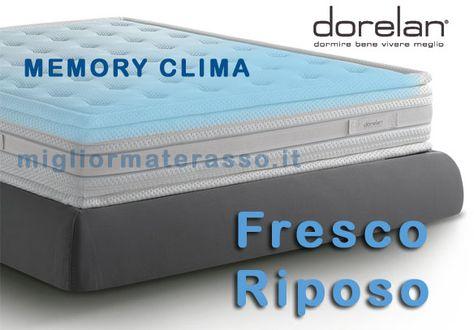 Promozione Materassi Memory.Dorelan Fresco Riposo Offerte Materassi Memory Clima Dorelan