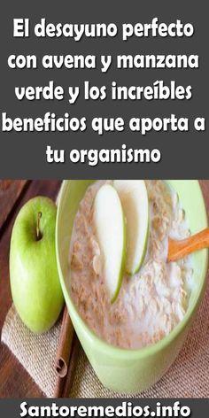 Beneficios de tomar avena con manzana