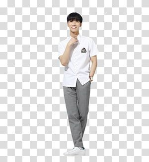 Ten Nct U Man In White Shirt Standing And Smiling Transparent Background Png Clipart In 2021 Blue Denim Top White Shirt Checkered Suit