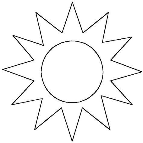 Moldes Del Sol En Foami Imagui Ed Infantil трафареты