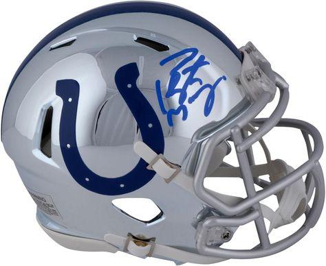 brand new cdaab 8caca Autographed Peyton Manning Colts Mini Helmet Fanatics ...
