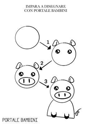 Disegni Facili Copiali A Matita O Con La Biro Portale Bambini Disegni Facili Imparare A Disegnare Disegni