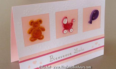 Handmade personnalisé-carte félicitations nouveau bébé-fimo
