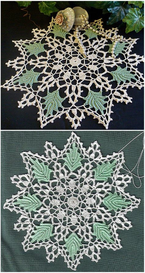 crochet doilies From doilies, this should satisfy every pretty picky about what choose to crochet. Perfect idea for spring and summer table by American Thread CompanySKILL LEVEL upper Tatting Patterns Free, Crochet Thread Patterns, Christmas Crochet Patterns, Crochet Patterns For Beginners, Crochet Home, Free Crochet, Crochet Coaster, Crochet Crafts, Crochet Ideas