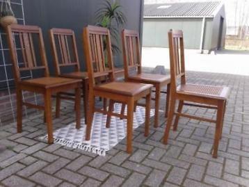 Fonkelnieuw Amsterdamse School stoelen 6x stoel eiken webbing art deco (met AF-15