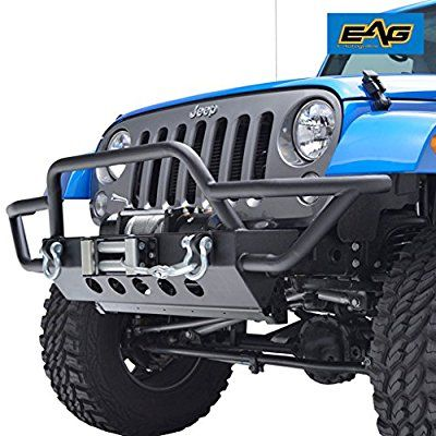Amazon Com Eag Jeep Jk Rock Crawler Front Bumper With D Ring