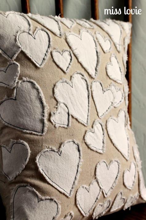 Miss Lovie: Anthro Knockoff Heart Collector Pillow