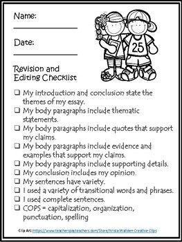 elementary spelling essay