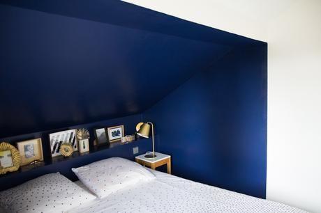La Nouvelle Deco De Ma Chambre Bleu Marine Noir Et Blanc Dore