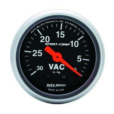 Autometer 3384 Sport Comp Mechanical Vacuum Gauge 2 1 16 Inch Ebay In 2020 Gauges Mechanic Electrical Wiring Diagram