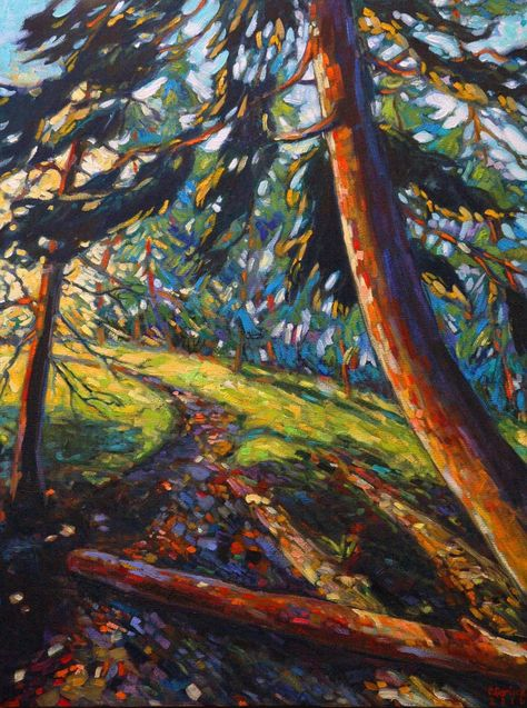 """""""Morning light at the Pinery"""", 18″x24″, Original Oil Painting, by Corinne Garlick, $550.00"""