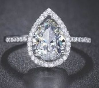 Pin On Wedding Rings Teardrop
