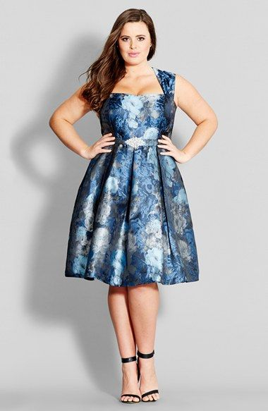Plus size flare dresses for women
