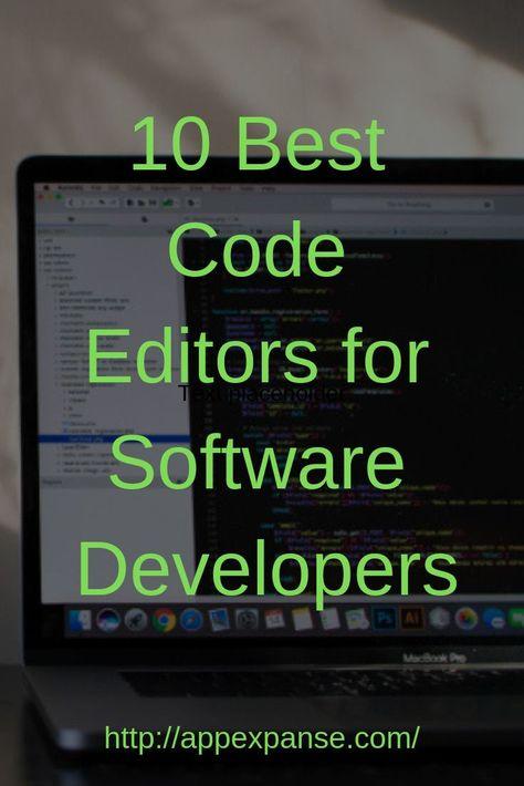10 Best Code Editors for Software Developers