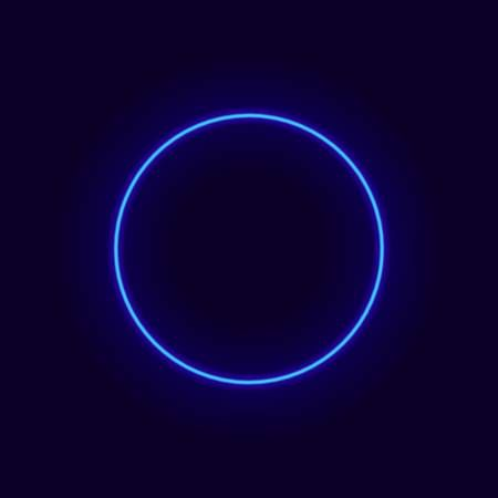 Vector Neon Circle Glow Frame Shine Effect On Dark Blue Background Blue Aesthetic Dark Dark Blue Background Dark Blue Wallpaper