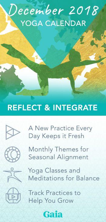Monthly Yoga Calendar