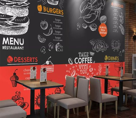 3D Doodle Hamburger Coffee 203 Wallpaper AJ Wallpaper 2