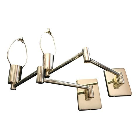 Hinson Lighting Br Double Swing Arm Wall Lamp With Dimmer