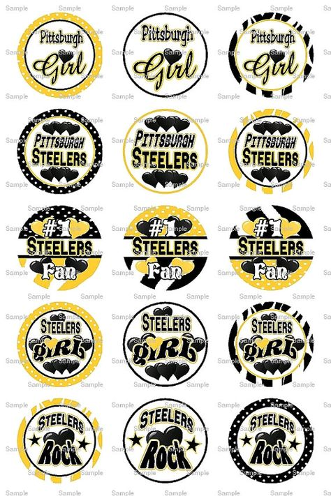 Items similar to Steelers Bottle Cap Images Bottlecap Collage Scrapbooking Jewelry Hairbow Center on Etsy
