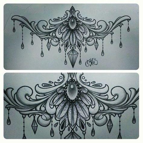 under boob sternum tattoo designs - Google-Suche: