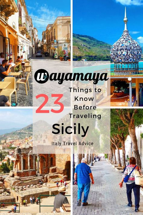 23 things to know before traveling to Sicily | Italy travel advice | wayamaya