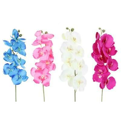 Details About Diy Artificial Butterfly Orchid Silk Flower Home Living Room Decoration F07 Artificial Flower Bouquet Artificial Butterfly Silk Flowers