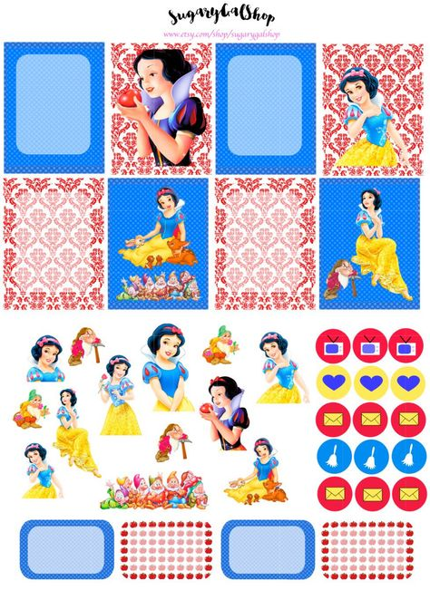 Snow White Planner Sticker Set by SugaryGaLShop on Etsy