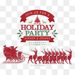 Flat Design Natal Com Papai Noel E Rendear Clipart Santa Vetor Papai Noel Imagem Png E Vetor Para Download Gratuito Christmas Party Poster Colorful Backgrounds Christmas Icons