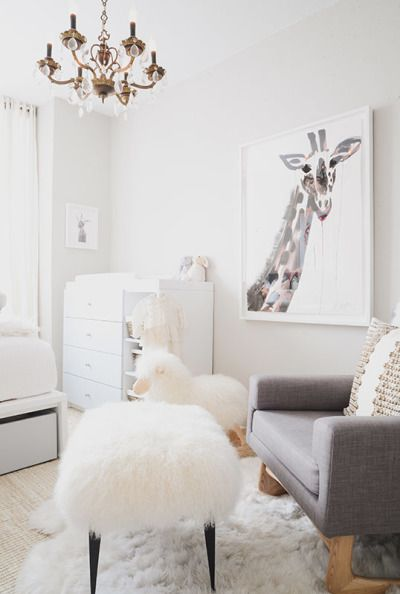 Modern All White Nursery with a POP of Pink | Pink photography ...