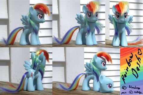 Customized Rainbow Dash figurine (I need to fix the hair on mine to ...