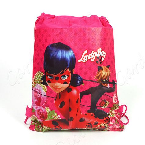 Miraculous Ladybug Non-woven Backpack Bundle Pocket Toy Bag Girls Christmas  Gift  fashion  clothing  shoes  accessories  kidsclothingshoesaccs ... eb8ee592d0519