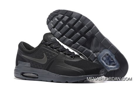 Nike Air Max Zero Qs Shoes For Men All Black Black Latest in