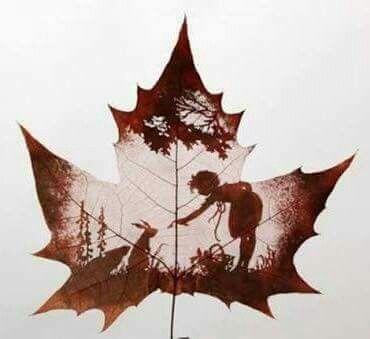 الرسم على ورق الشجر Leaf Art Dry Leaf Art Leaf Crafts